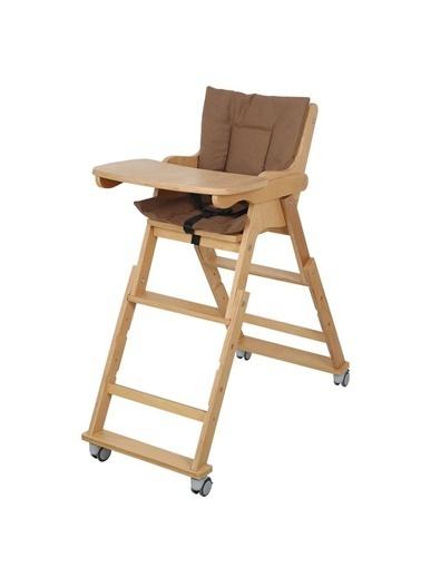 POKY POKY Ahşap Mama Sandalyesi Katlanabilir Yükseklik Ayarlı Renkli Renkli